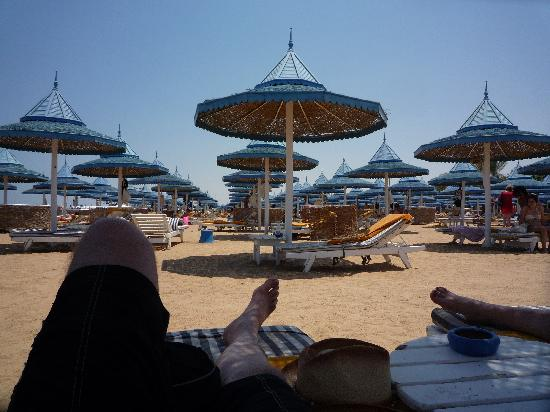The Grand Resort Hurghada: pleanty of beds on the beach