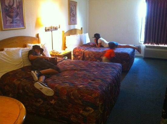The Antonian: kids relaxing on not so comfy beds according to them.