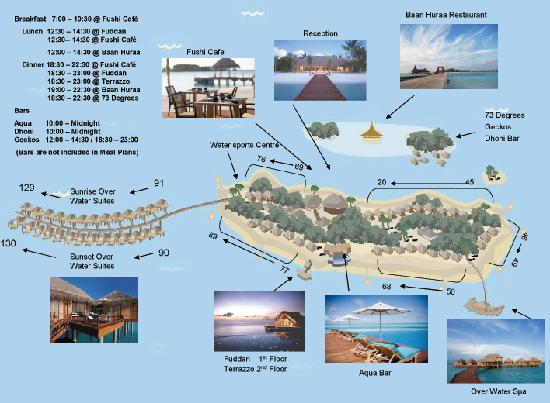 Anantara Dhigu Maldives Resort: Anantara Dhigu Resort site map