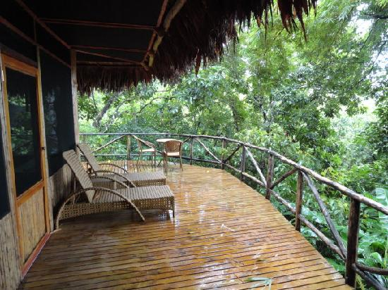 Lapa Rios Ecolodge Osa Peninsula: Our private patio on the rainforest!
