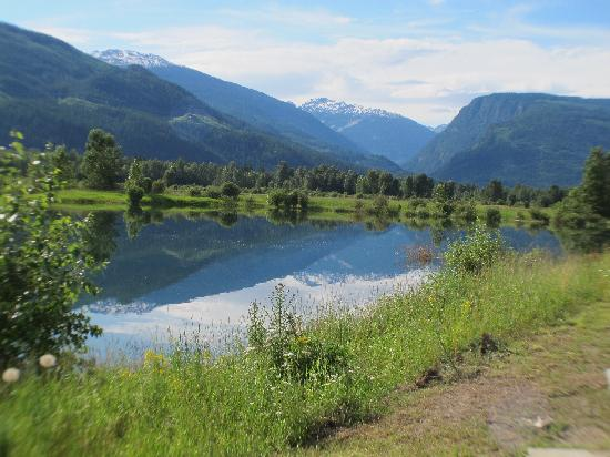 Alpenrose Bed and Breakfast: Reflections on the Columbia river in Revelstoke