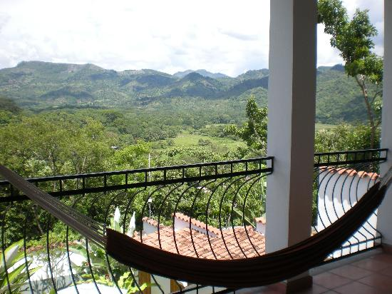 Terramaya: Lovely panoramic view from private hammock on balcony