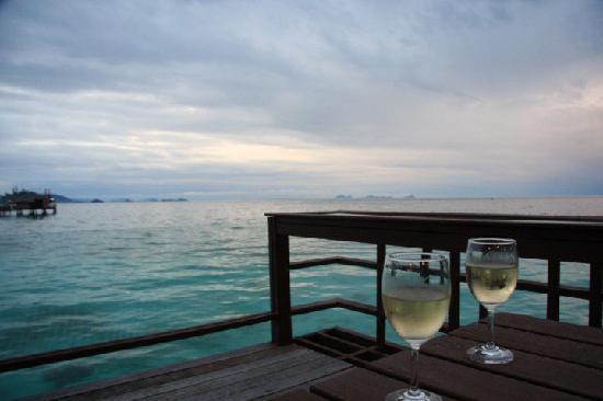 Mabul Water Bungalows: Balcony