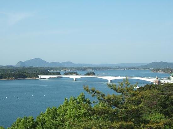 Kamiamakusa, Япония: 展望台からみた天草五橋