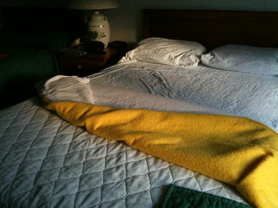 The Inn at Amish Acres: threadbare blanket from the 70s