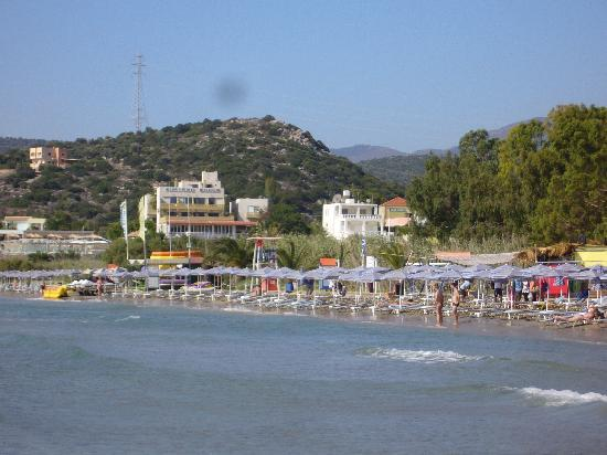 Hotel Almiros Beach: la plage en dessous de l'hôtel