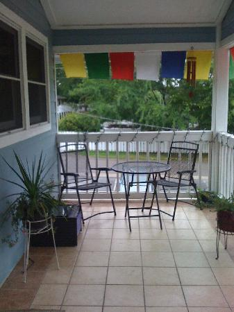 Ayurveda Health Retreat: Upstairs deck