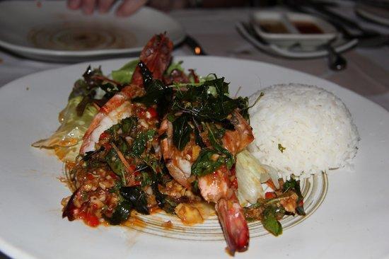 Bamboo Kitchen: Night 1: Prawn Veg n Rice. Delish.