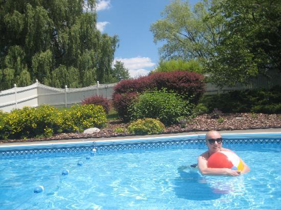 Freeville, estado de Nueva York: Pool and a portion of garden...bliss !
