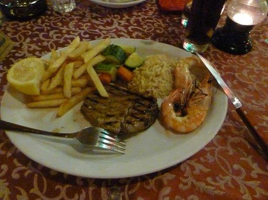 Sunset Taverna: Fillet Steak (Surf and Turf)