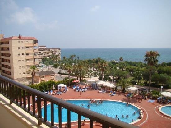 Restaurante mirador picture of hotel playas de for Piscina torrevieja