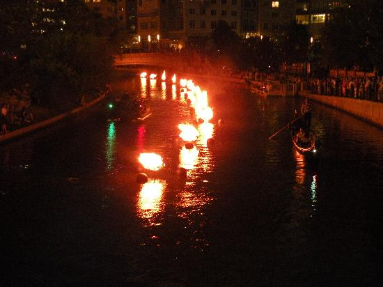 Waterfire on the Providence River - July 2011
