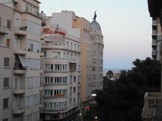 Hotel Rambla: Late night view from balcony