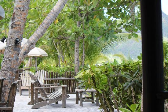 Indian Ocean Lodge: Terrasse de l'hôtel