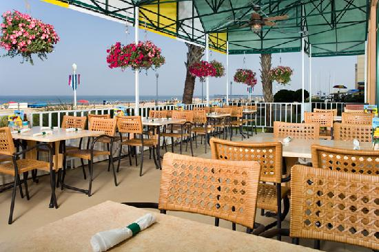 Holiday Inn Va Beach Oceanside 21st St Key West Patio Features Oceanfront