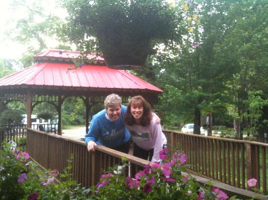 Tennessee Fitness Spa: My sister & I outside the dining room.