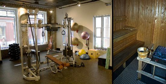 Auberge Saint-Antoine : The gym & sauna