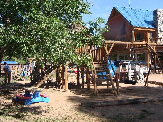 Lone Duck Campground: Playground and Main Lodge