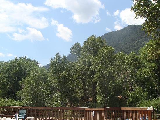 Lone Duck Campground: View from the pool deck