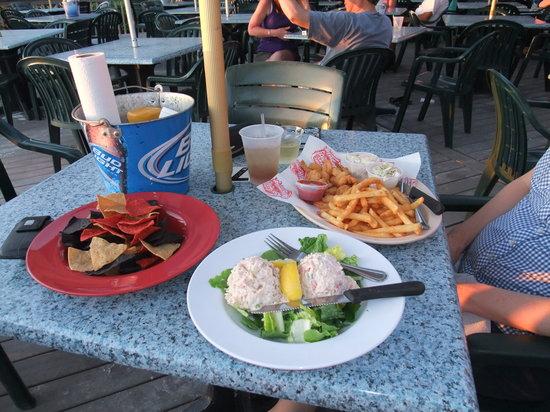 Pinchers: Coconut Shrimp and crab dip