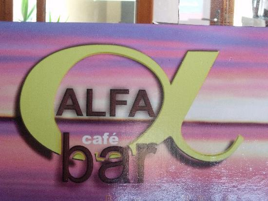 Alfa Cafe Bar : Just look for the Sign....