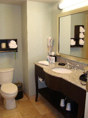 Hampton Inn Colby: nice bathrooms!