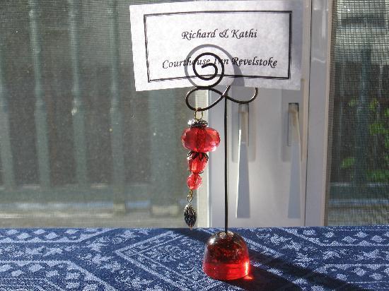 Courthouse Inn Revelstoke: Nice touch