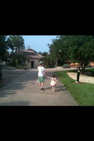 Disney's Coronado Springs Resort: and my kids actually were happy and held hands!!!