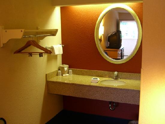 Red Roof Inn Lexington North: Bathroom mirror