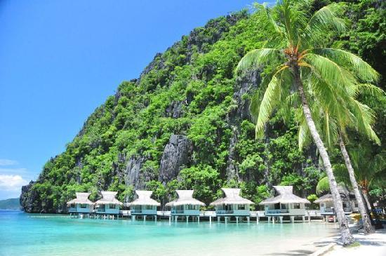 El Nido Resorts Miniloc Island: Resort and bay