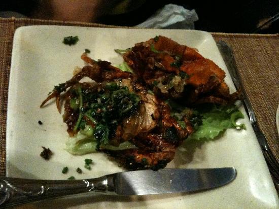 Suave : Crabe en mue (plat)