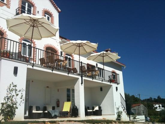 Casa nas Serras: petits déj sur la terrasse