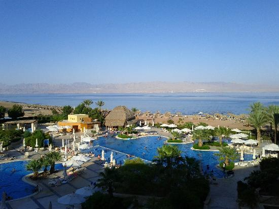 Strand Beach and Golf  Resort Taba Heights: Pools and beach from room 1416