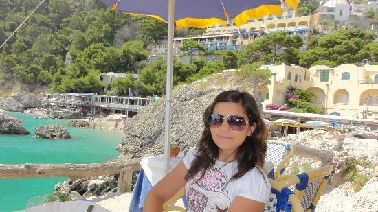 Hotel Weber Ambassador Capri: terrace in front of the hotel
