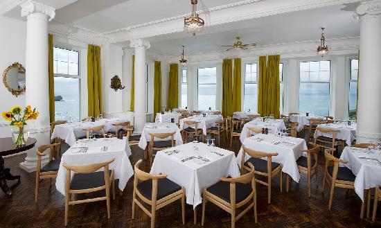 The restaurant at Polurrian Bay Hotel
