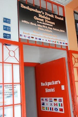 Backpacker's Freak Hostel: Main Entrance