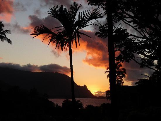 Hanalei Bay Resort: Amazing sunset