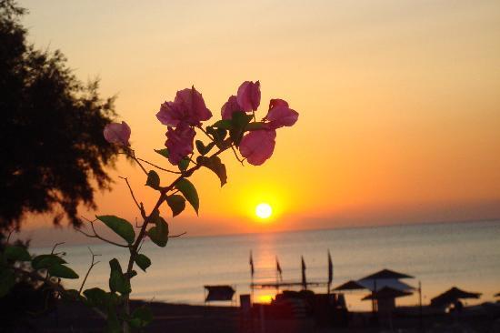 Hotel Calypso : lever de soleil vu de notre chambre