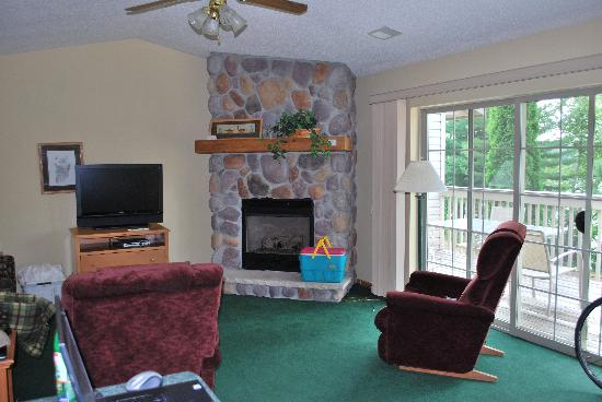 Black Bear Lodge: Living Room, Unit 204