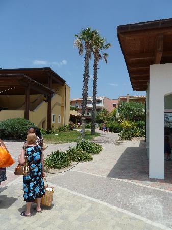 Serenusa Village : chemin menant aux chambres