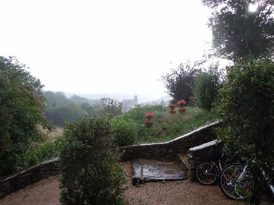 Le Mas de Salel: Montagnol view from our doorstep on a rainy day