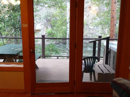 River's Edge Resort: View from living room - cabin #20