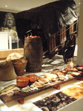 Roman Army Museum: Food and stores display