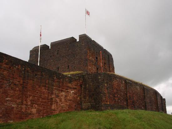 Carlisle, UK: A view of the exterior of the castle