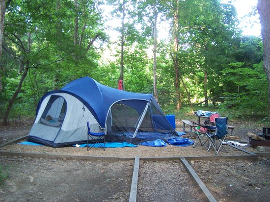 Colonial Beach, VA: Campsite in Campground B