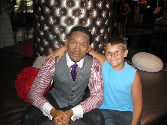 Madame Tussauds -  Las Vegas : my son and Will Smith