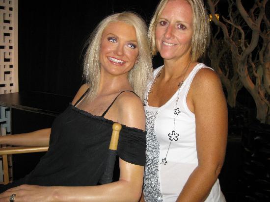 Madame Tussauds -  Las Vegas: me and Cameron Diaz
