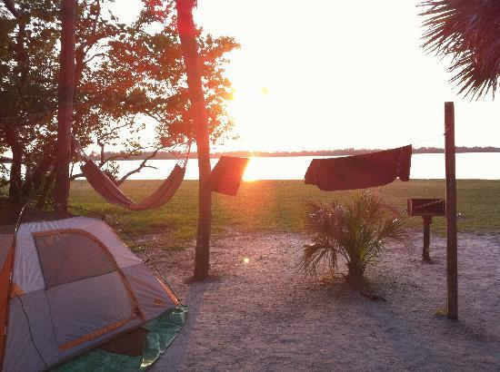 Fort de Soto Park Campground: View looking out.