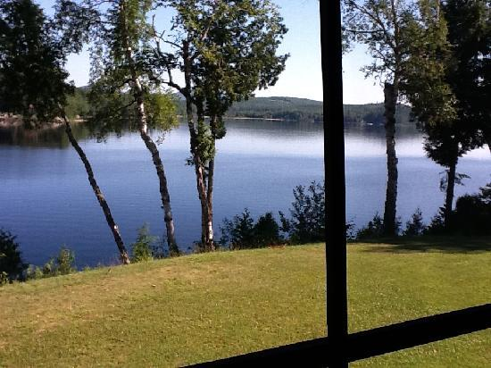 Long Lake, Estado de Nueva York: view from our second floor screened porch