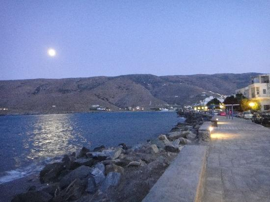 Villa Korthi : Ormos Korthiou by night